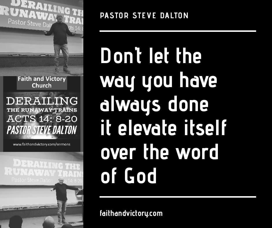 Derailing the Runaway Trains - Faith and Victory Church