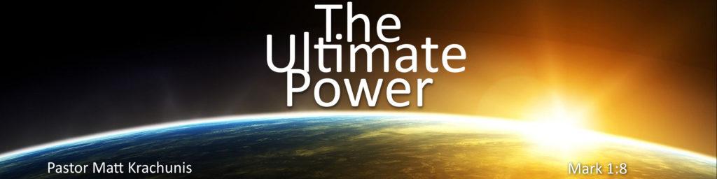 ultimate power Jesus